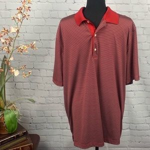 Greg Norman Play Dry Striped Golf Shirt, X-Large